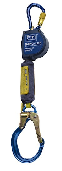 Nano-Lok™ Extended Length Self Retracting Lifeline with Anchor Hook - Web (#3101595)