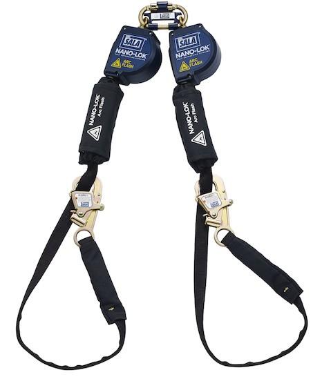 Nano-Lok™ Arc Flash Tie-Back Twin-Leg Quick Connect Self Retracting Lifeline - Web (#3101565)