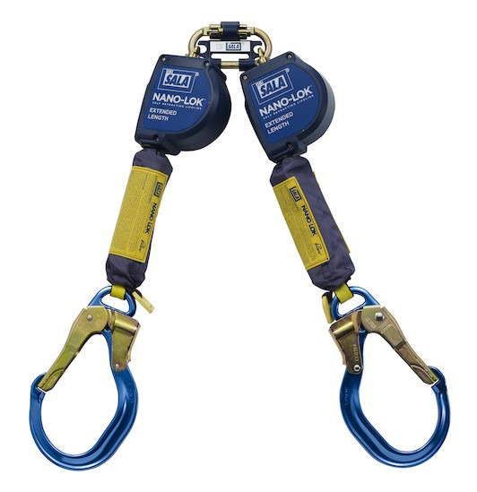 Nano-Lok™ Extended Length Twin-Leg Quick Connect Self Retracting Lifeline - Web (#3101624)