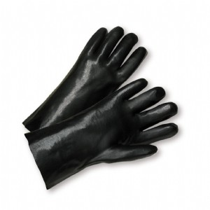 """West Chester® PVC Dipped Glove with Interlock Liner and Smooth Finish - 10""""  (#W1017)"""
