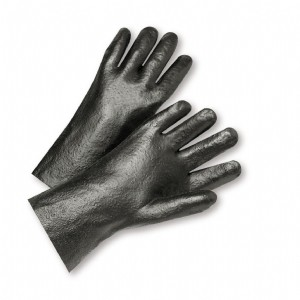 """West Chester® PVC Dipped Glove with Interlock Liner and Semi-Rough Finish - 10""""  (#1017R)"""