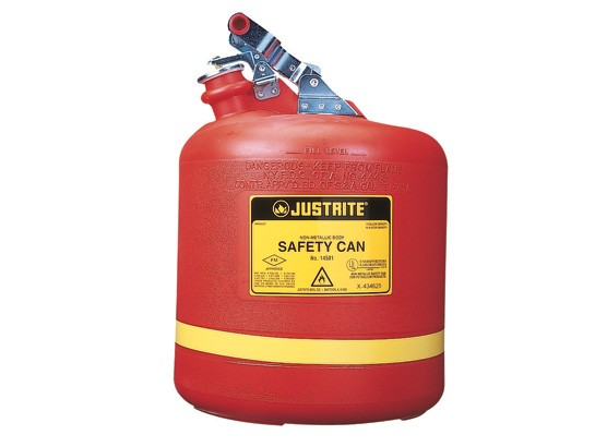 Justrite Type I Poly Safety Can, 5.0 gallon (#14561)