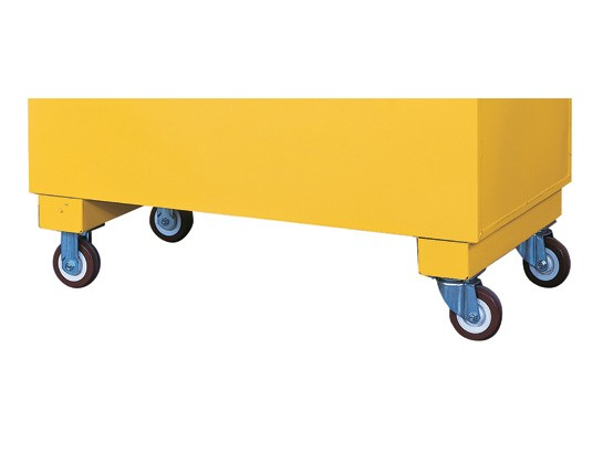 Justrite Flammable Casters For Safety/Storage Chest, Set of 4, 1120lb. Cap., 2 Locking (#16044)