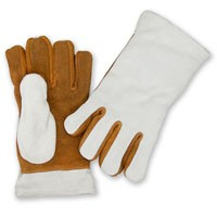 Leather Heat Resistant Gloves, 3-ply