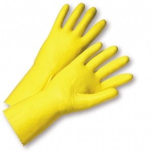 West Chester® Unsupported Latex, Flock Lined with Raised Diamond Grip - 18 Mil  (#2312)