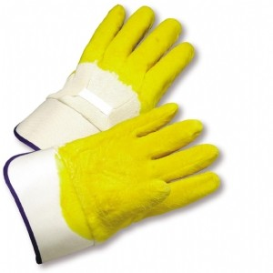Latex Palm Coated, Crinkle Finish, Safety Cuff Gloves (#3003)