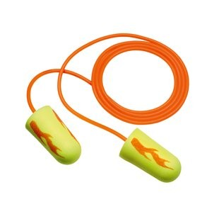 3M E-A-Rsoft Yellow Neon Blasts Earplugs, corded (#311-1252)