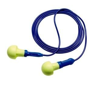 3M E-A-R Push-Ins Metal Detectable Earplugs, corded (#318-3000)
