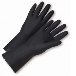 Flock Lined Neoprene Black Gloves (#32212)