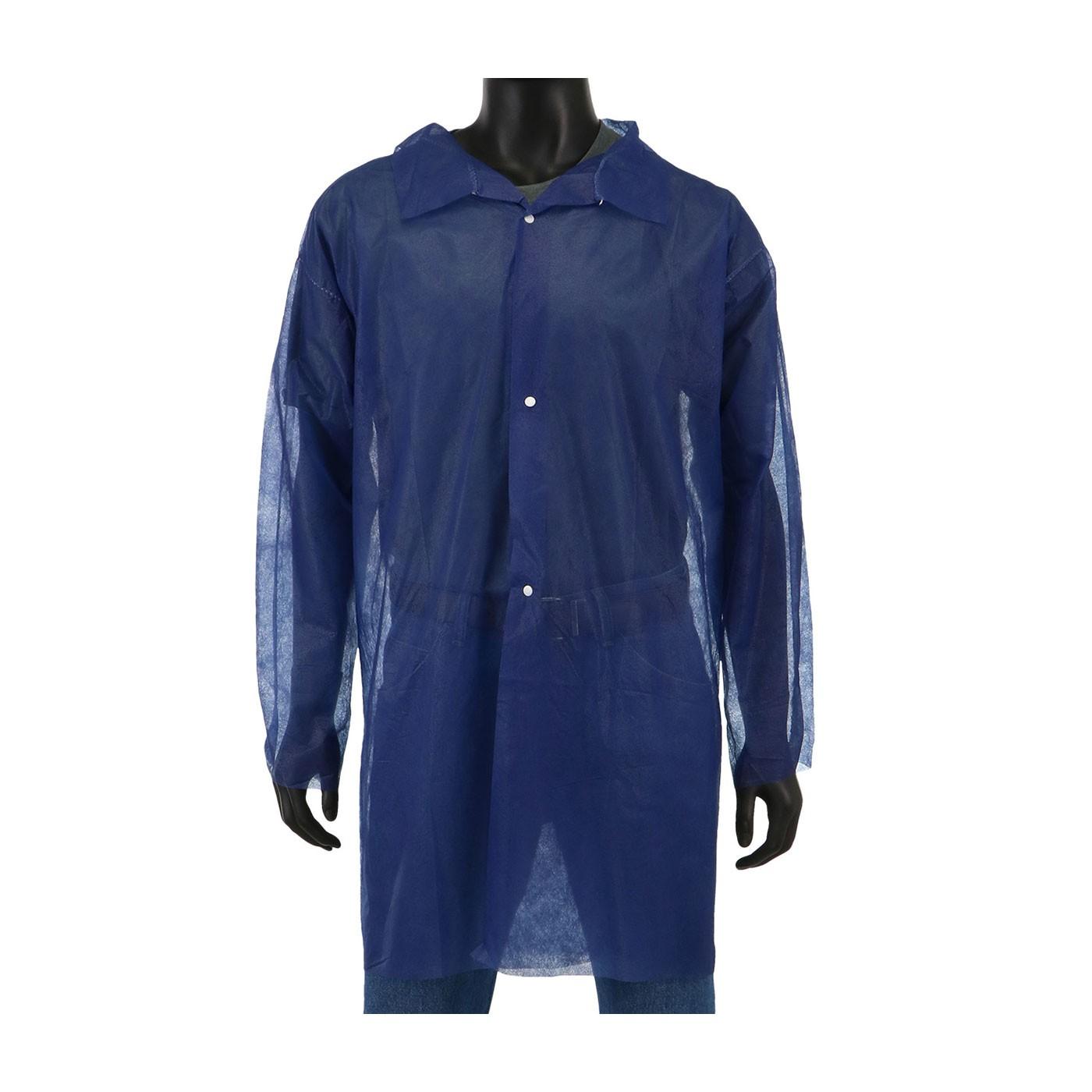 Standard Weight SBP Blue Lab Coat, No Pocket (#3511B)