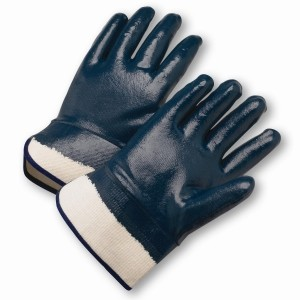 West Chester® Nitrile Dipped Glove with Jersey Liner and Heavy Weight Smooth Grip on Full Hand - Plasticized Safety Cuff  (#4550FC)