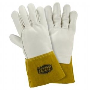 Ironcat® Ironcat® Premium Top Grain Cowhide Leather Mig Welder's Glove with Kevlar® Stitching - Leather Gauntlet Cuff  (#6010)
