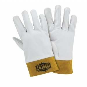 Ironcat® Ironcat® Premium Top Grain Kidskin Leather Tig Glove with Kevlar® Stitching- Split Leather Band Top  (#6140)