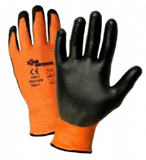 Orange HPPE Shell with Black Polyurethane Foam Palm Coat (#703COPB)