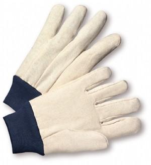 PIP® Premium Grade Cotton/Poly Canvas Single Palm Glove - Blue Knitwrist  (#710BKWK)
