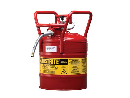 Justrite Type II D.O.T. Safety Can, 5 gallon, Red (#7350110)