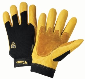 Ironcat® Ironcat® Reinforced Top Grain Cowhide Leather Palm Glove with Spandex Back  (#86350)