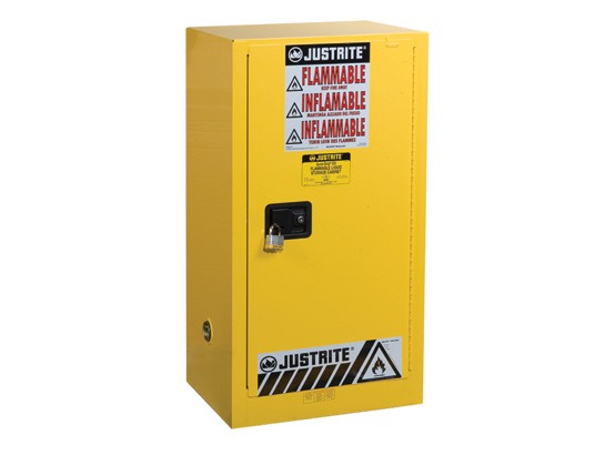 Sure-Grip EX Compac Flammable Safety Cabinet, 1 Shelf, Self-Close Door, 15 Gallon Cap. (#891520)
