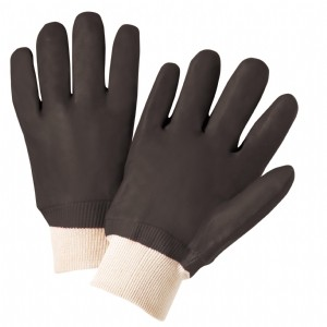West Chester® PVC Dipped Glove with Jersey Liner and Rough Finish - Knitwrist  (#J1007RF)