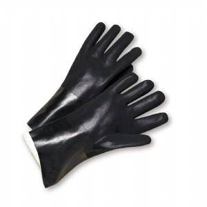 """West Chester® PVC Dipped Glove with Jersey Liner and Rough Finish - 10""""  (#WJ1017RF)"""