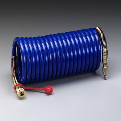 3M™ Supplied Air Hose, Industrial Interchange Fittings, High Pressure, Coiled, 50' (#W-2929-50)