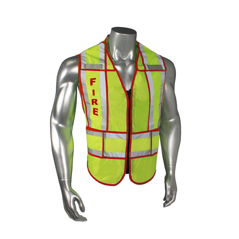 "Breakaway 1"" Split Fire Safety Vest, Red Trim (#LHV-207-SPT-FIR)"