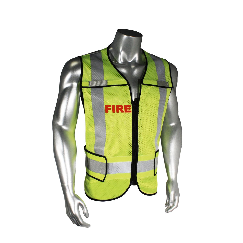 Breakaway Fire Safety Vest, Black Trim (#LHV-5-PC-ZR-FIR)