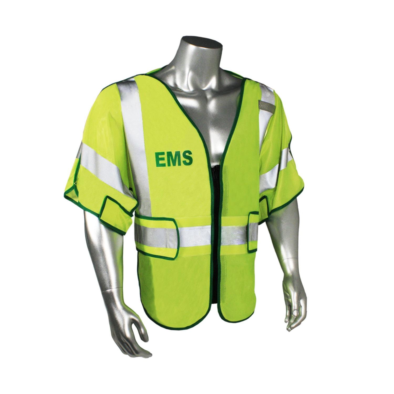 Breakaway Class 3 EMS Safety Vest, Green Trim (#LHV-PS3-DSZR-EMS)
