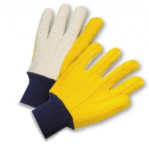 Canvas Back Chore Palm Standard Lined Gloves (#M18KW)