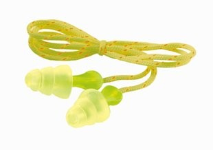 3M Tri-Flange Earplugs, cloth corded (#P3001)