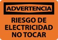 Advertencia Riesgo De Electricidad No Tocar Sign (#SPW500)
