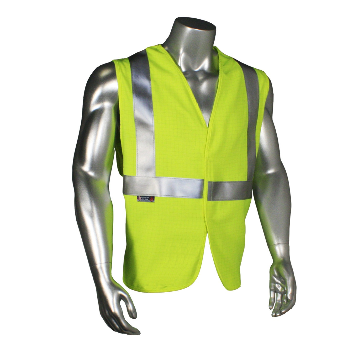 Anti-Static Modacrylic FR Class 2 Solid Vest (#SV92AS-2VGS)