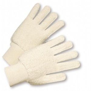Cotton Double-Palm Loop Out Terry Gloves (#T24KW)