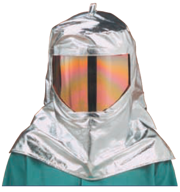 19oz. Aluminized Carbon Kevlar Wide View Hood (#WV-647-ACK)