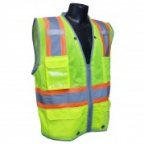Two-Tone Surveyor Class 2 Vest, Hi-Viz Green (#SV6HG)
