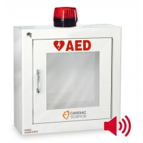 AED Wall Cabinet: Surface Mount with Alarm & Strobe, Security Enabled (#50-00392-30)