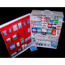 First Aid Cabinet, 5-shelf, filled (#738MTMF)