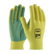 Kut Gard® Seamless Knit Kevlar® Glove with PVC Dot Grip - Light Weight  (#08-K200PD)