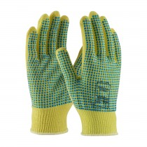 Kut Gard® Seamless Knit Kevlar® Glove with Double-Sided PVC Dot Grip - Light Weight  (#08-K200PDD)