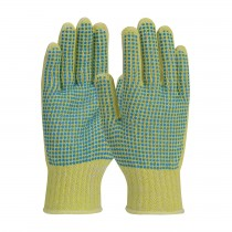 Kut Gard® Seamless Knit Kevlar® / Cotton Plated Glove with Double-Sided PVC Dot Grip - Medium Weight  (#08-K252)