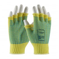 Kut Gard® Seamless Knit Kevlar® Glove with Double-Sided PVC Dot Grip - Half-Finger  (#08-K259PDD)