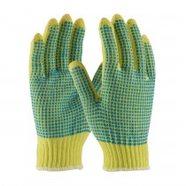 Kut Gard® Seamless Knit Kevlar® Glove with Double-Sided PVC Dot Grip - Medium Weight  (#08-K312)