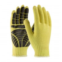 Kut Gard® Seamless Knit Kevlar® Glove with PVC Tiger Paw Grip - Medium Weight  (#08-K300PS)