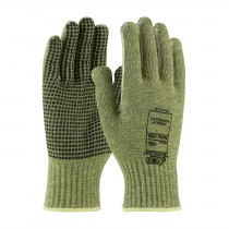 Kut Gard® Seamless Knit ACP / Kevlar® Blended Glove with PVC Dot Grip and Polyester Lining - Economy Weight  (#08-KA740PD)