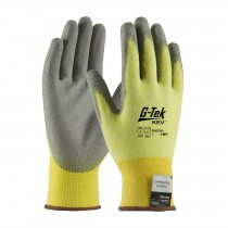 G-Tek® KEV™ Seamless Knit Kevlar® / Lycra Glove with Polyurethane Coated Smooth Grip on Palm & Fingers  (#09-K1250)