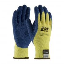 G-Tek® KEV™ Seamless Knit Kevlar® Glove with Latex Coated Crinkle Grip on Palm & Fingers  (#09-K1310)