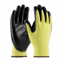 G-Tek® KEV™ Seamless Knit Kevlar® Glove with Nitrile Coated Smooth Grip on Palm & Fingers - Medium Weight  (#09-K1400)