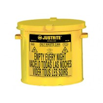 Justrite Countertop Oily Waste Can, 2 gallon, Yellow (#09200Y)