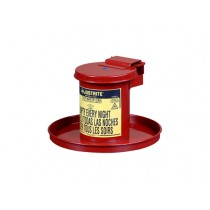Justrite Benchtop Solvent Safety Can, Self-Closing Lid, 0.45 Gallon, Red (#09400)