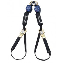 Nano-Lok™ Tie-Back Twin-Leg Quick Connect Self Retracting Lifeline - Web - For Hot Work Use (#3101326)